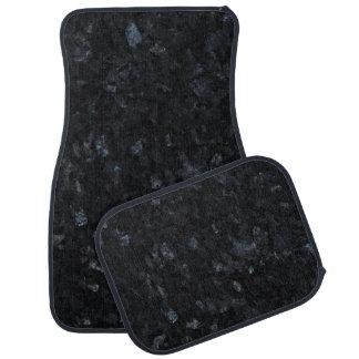 Blue Pearl Stone Pattern Background Car Mat