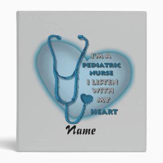 Blue Pediatric Nurse 3 Ring Binder