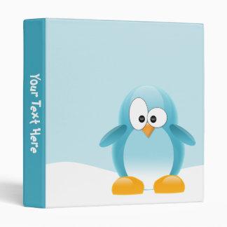 Blue Penguin 3 Ring Binder