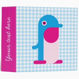 Blue Penguin Binder