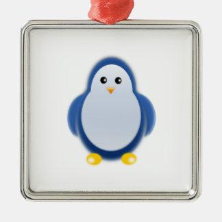 Blue penguin clipart christmas ornament
