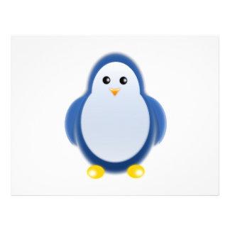 Blue penguin clipart full color flyer
