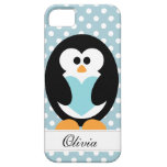 Blue Penguin Love iPhone 5 Cover