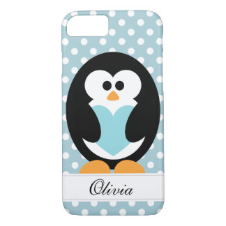 Blue Penguin Love iPhone 8/7 Case