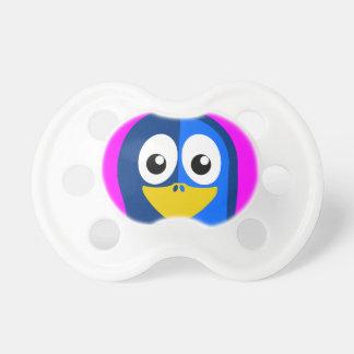 Blue Penguin on Purple Pacifier