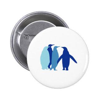 Blue Penguins Pinback Buttons