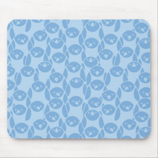 Blue penguins pattern background mouse pad