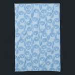 "Blue penguins pattern background towel<br><div class=""desc"">Vector blue penguines seamless pattern background with hand drawn animals.  &#169; and &#174; Bigstock&#174; - All Rights Reserved.</div>"