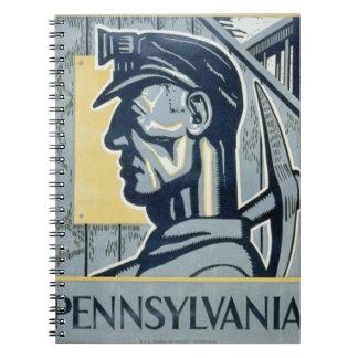Blue Pennsylvanian Coal Miner Note Book