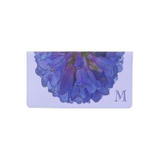 Blue Penstemon Flower Monogram