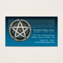 Blue Pentacle Business Cards