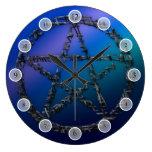 Blue Pentacle Clocks