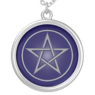 Blue Pentacle Necklace