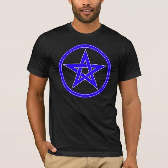 Blue Pentacle Pentagram T-Shirt