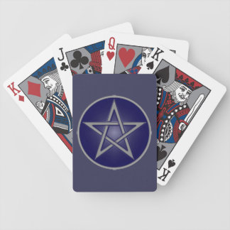 Blue Pentacle Playing Cards
