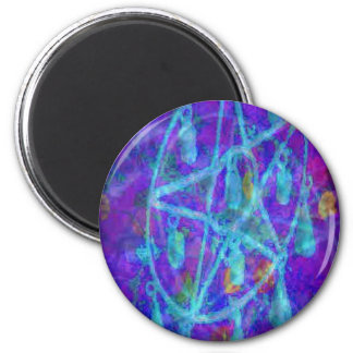 Blue Pentacle Royale by JudyMarisa 2 Inch Round Magnet