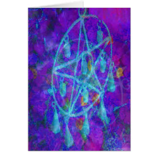 Blue Pentacle Royale Greeting Card