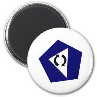 Blue Pentagon 2 Inch Round Magnet