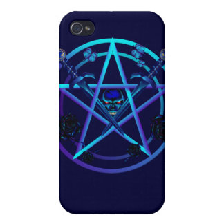 Blue Pentagram and Daggers  iPhone 4/4S Covers