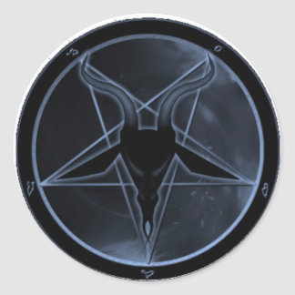 Blue Pentagram Classic Round Sticker