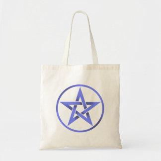 Blue Pentagram Pentacle Tote Bag