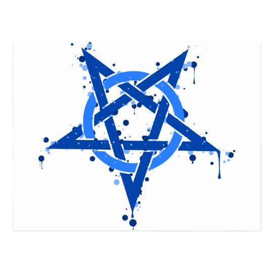 Blue Pentagram Postcard