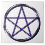 Blue Pentagram Tile