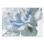 Blue Peony Fine Art Watercolor Greeting Card