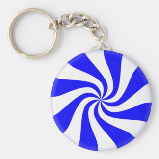 Blue Peppermint Candy Keychains