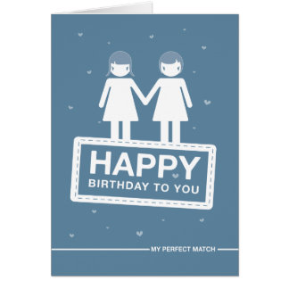 Blue | Perfect Match | Happy Birthday Card