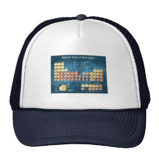 Blue periodic table of beer styles trucker hat