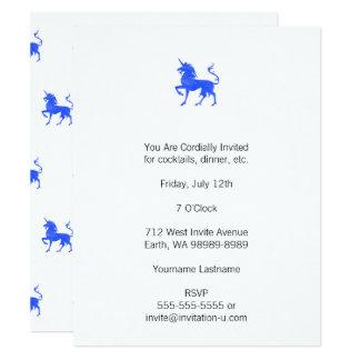 Blue (Periwinkle) Unicorn Card