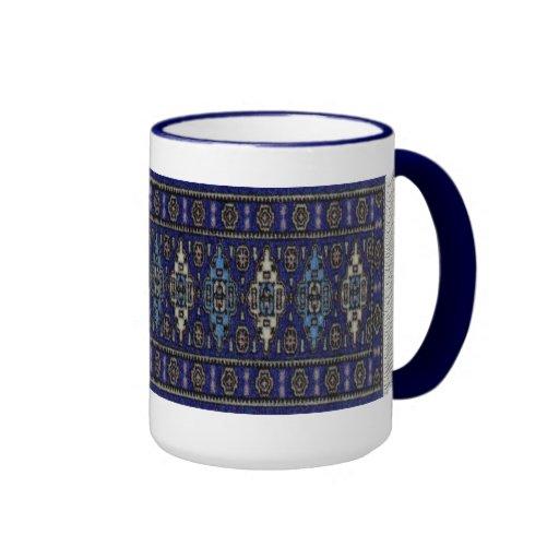 Blue persian ringer mug