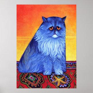 Blue Persian with Starfish Print