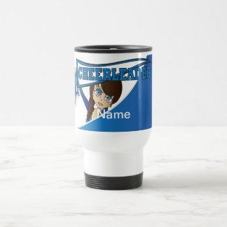 Blue Personalize Cheerleader Mugs