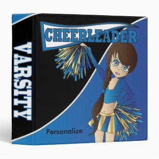 Blue Personalize Diva Cheerleader Binder