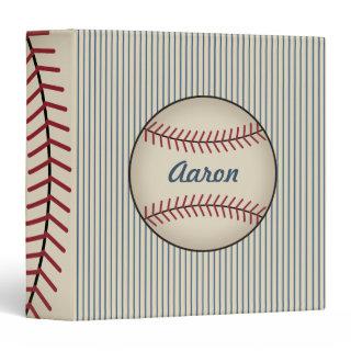 Blue Personalized Baseball Binder