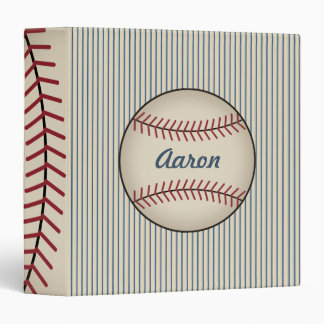 Blue Personalized Baseball Binder
