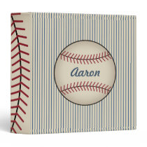 Blue Personalized Baseball Binder Gift
