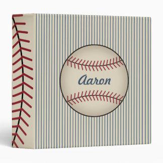 Blue Personalized Baseball Binder Gift