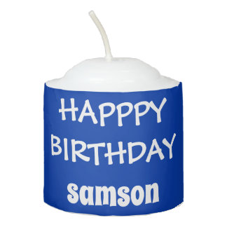 Blue Personalized Birthday Candle