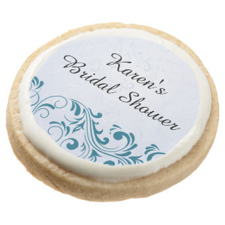 Blue Personalized Bridal Shower Cookies