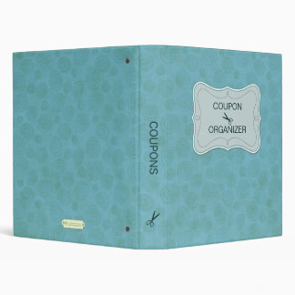 Blue Personalized Coupon Organizer Binder