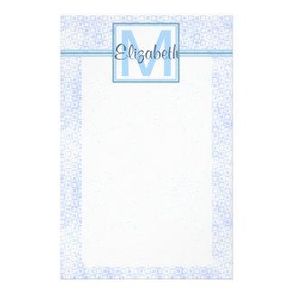 Blue Personalized Monogram Stationery