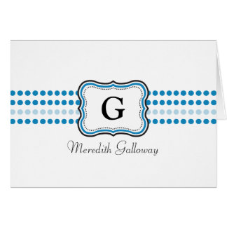 Blue Personalized Note Card