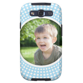 Blue personalized photo Samsung Galaxy case Samsung Galaxy S3 Cover