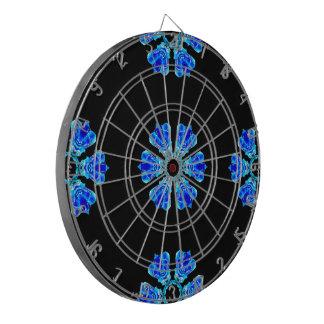 Blue Petals Dartboard