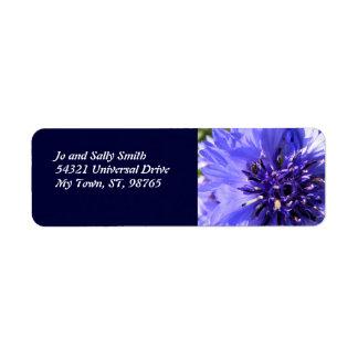Blue Petals Label