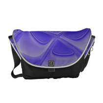 Blue Petals Morphed Messenger Bag