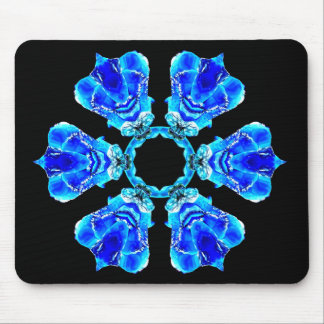 Blue Petals Mouse Pad